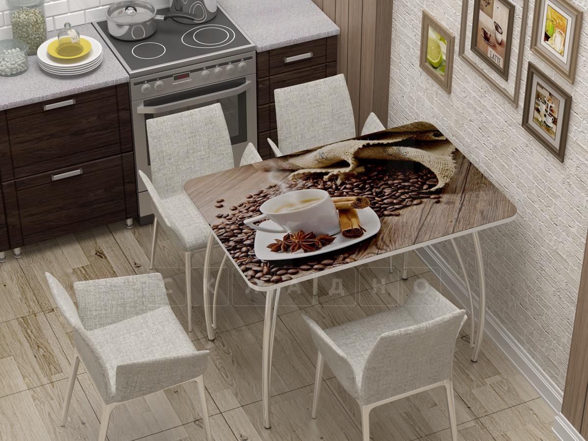 Стол нераздвижной с фотопечатью Кофе фото 1 | интернет-магазин Складно