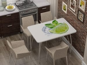 Стол нераздвижной стеклянный с фотопечатью Лайм-10879 фото | интернет-магазин Складно