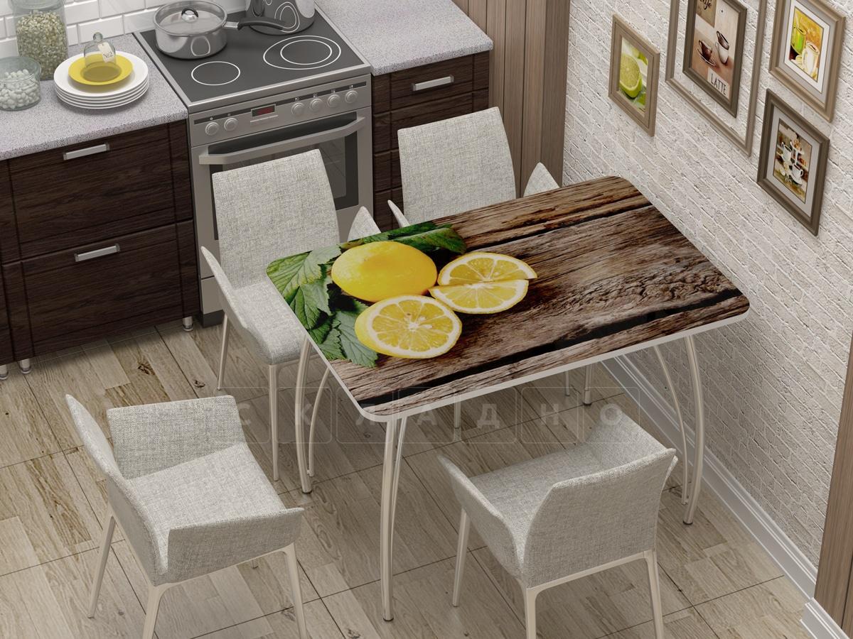 Стол нераздвижной с фотопечатью Лимон фото 1 | интернет-магазин Складно