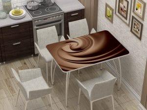 Стол нераздвижной с фотопечатью Шоколад-10843 фото | интернет-магазин Складно