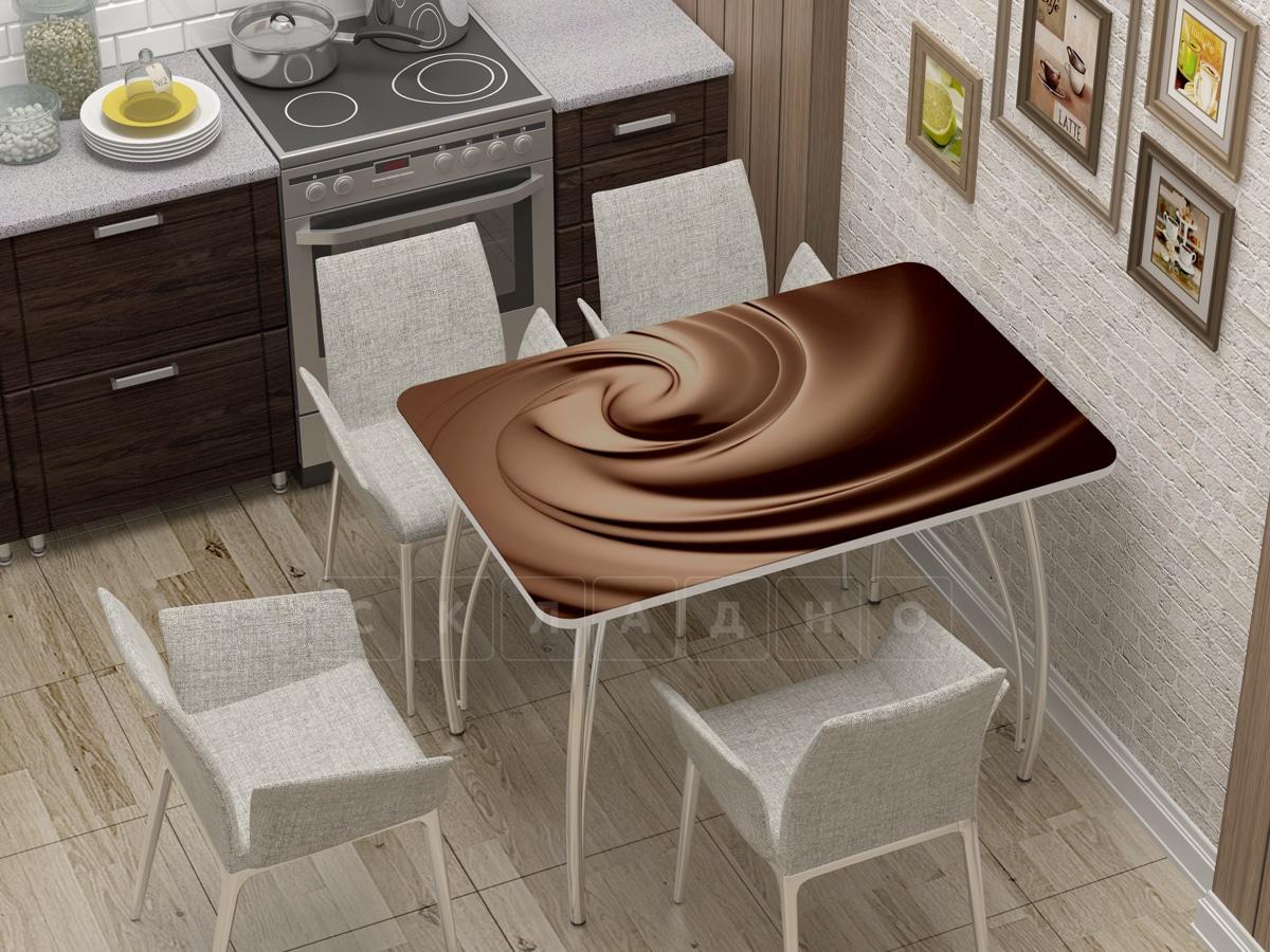 Стол нераздвижной стеклянный с фотопечатью Шоколад фото 1 | интернет-магазин Складно