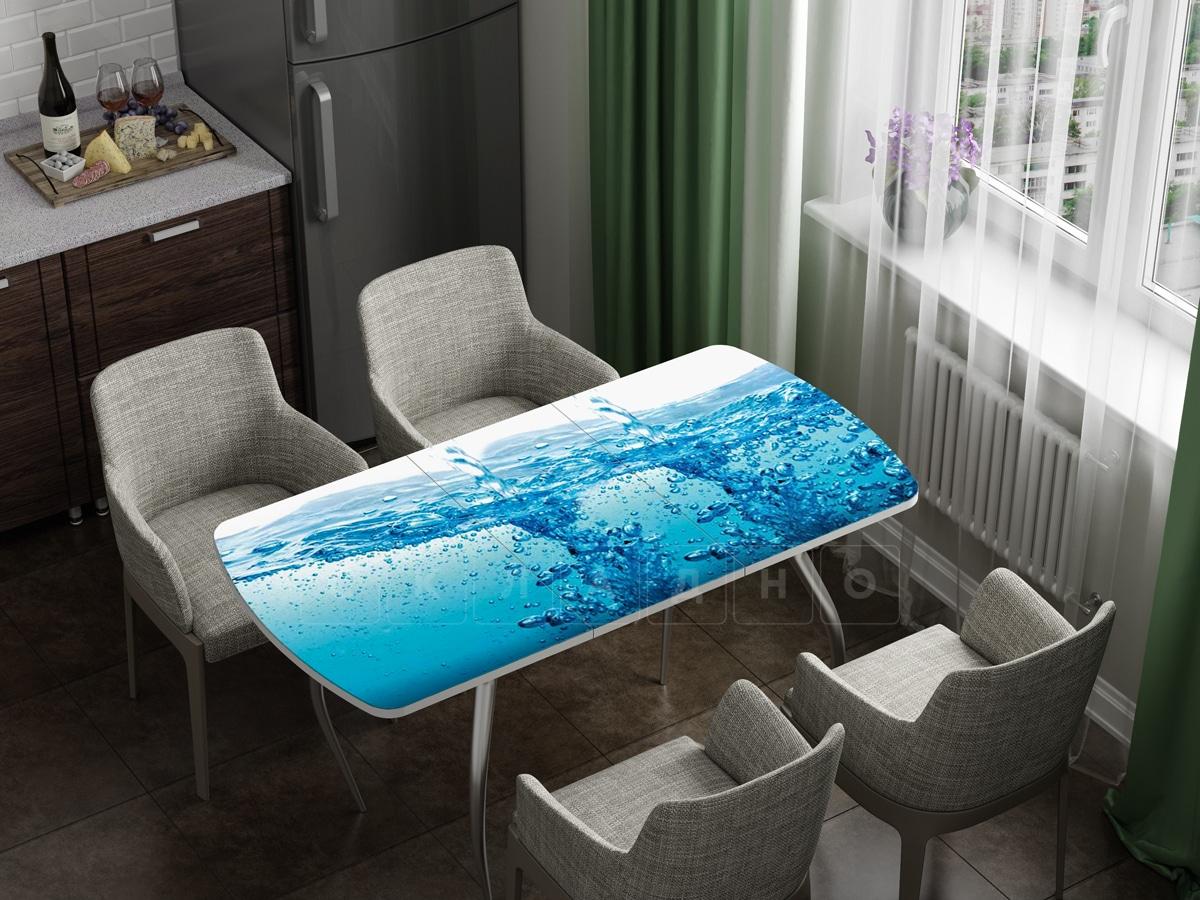 Стол раздвижной стеклянный с фотопечатью Брызги фото 1 | интернет-магазин Складно