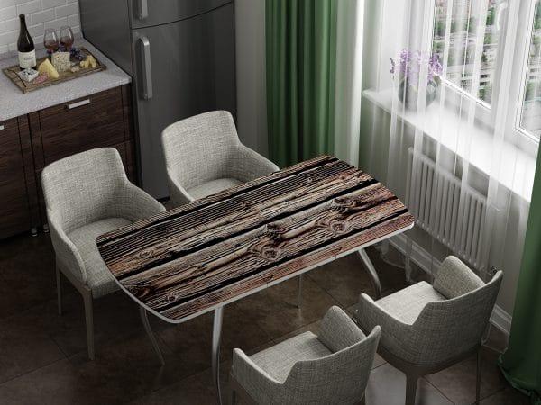 Стол раздвижной стеклянный с фотопечатью Дерево фото | интернет-магазин Складно