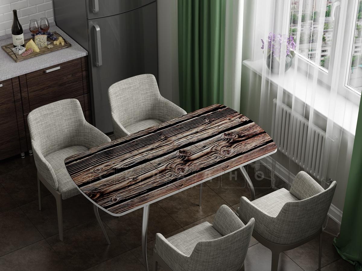 Стол раздвижной стеклянный с фотопечатью Дерево фото 1 | интернет-магазин Складно