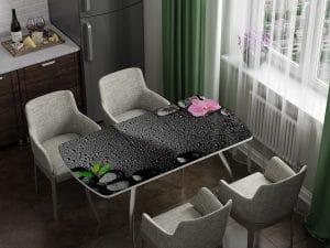 Стол раздвижной стеклянный с фотопечатью Гармония-10961 фото | интернет-магазин Складно