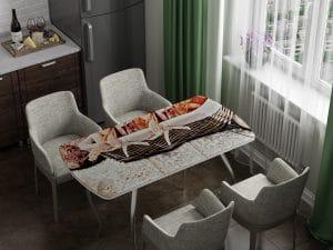 Стол раздвижной стеклянный с фотопечатью Хлеб-10963 фото | интернет-магазин Складно