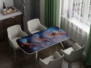Стол раздвижной стеклянный с фотопечатью Космос-10965 фото | интернет-магазин Складно