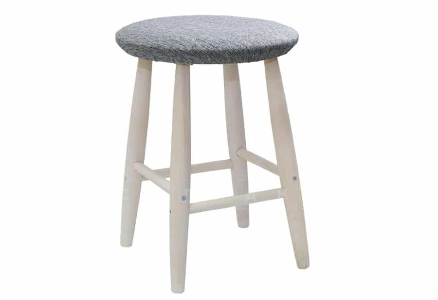 Табурет массив Бруно круглый с мягким сиденьем фото 1 | интернет-магазин Складно