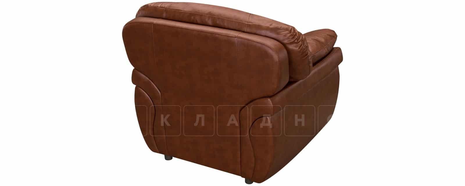 Кресло Бристоль кожаное коричневого цвета фото 3 | интернет-магазин Складно