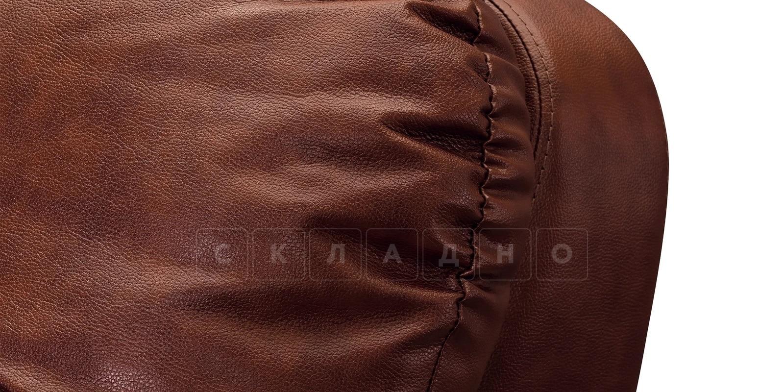 Кресло Бристоль кожаное коричневого цвета фото 5 | интернет-магазин Складно