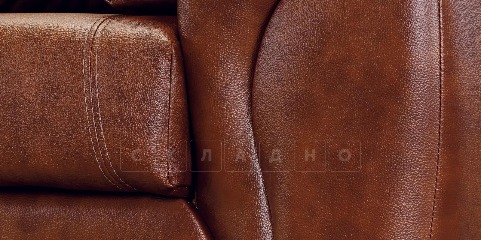 Кресло Бристоль кожаное коричневого цвета фото 6 | интернет-магазин Складно