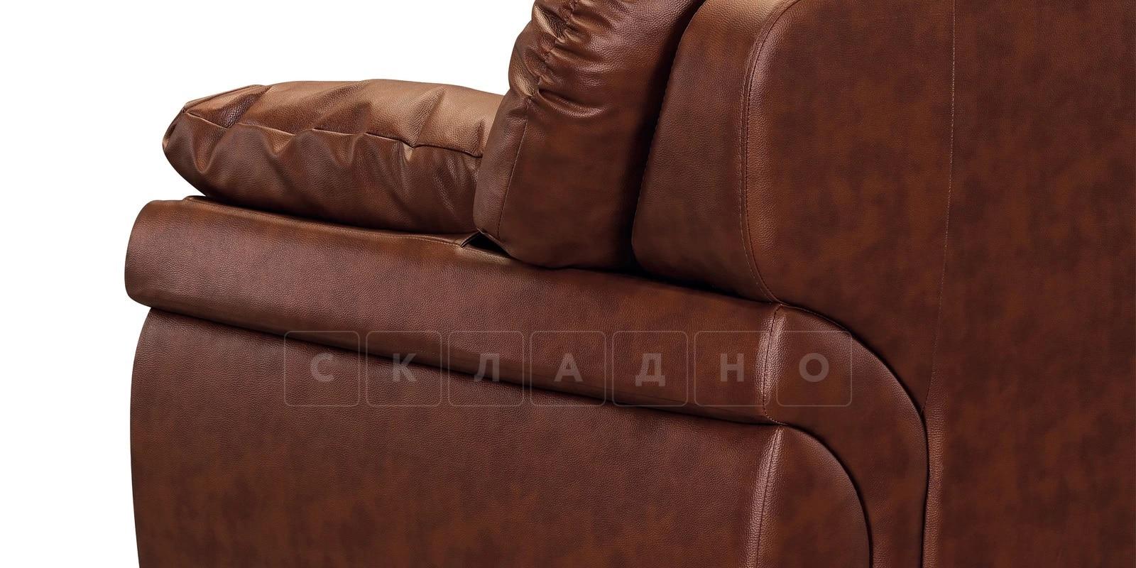 Кресло Бристоль кожаное коричневого цвета фото 7 | интернет-магазин Складно