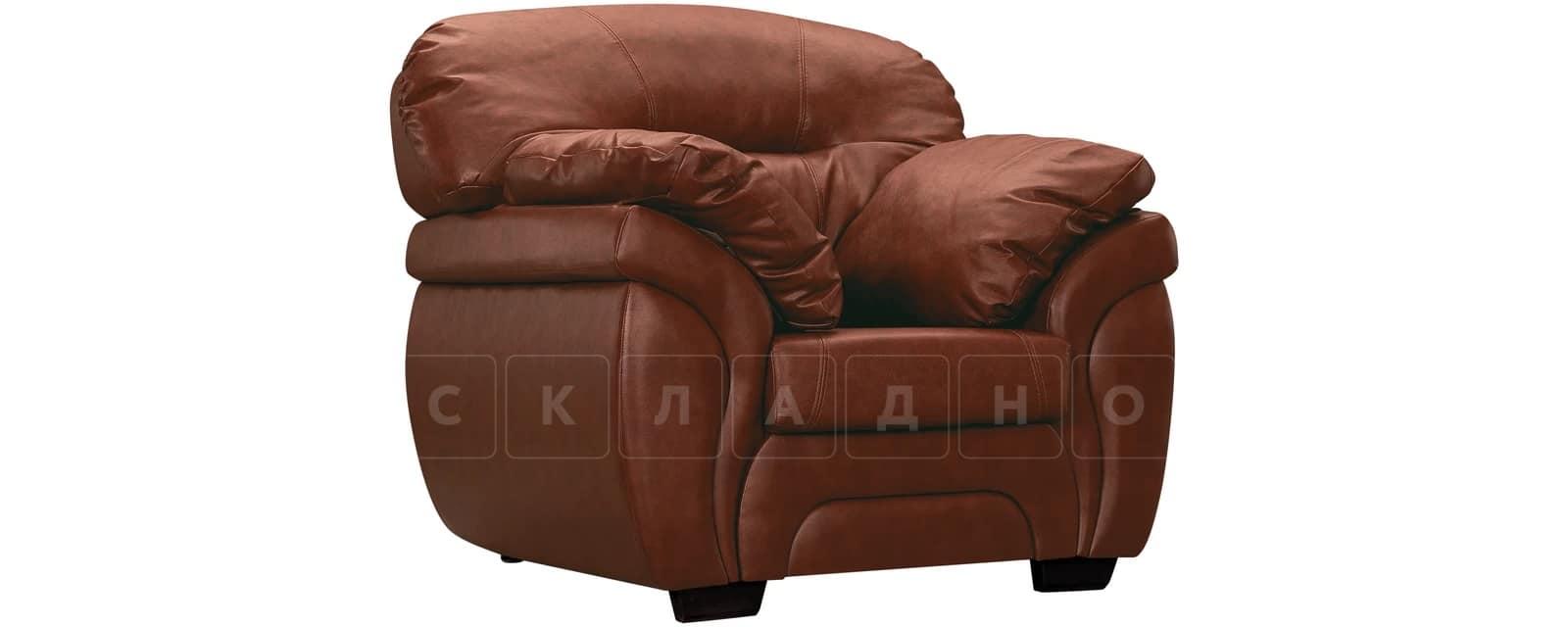 Кресло Бристоль кожаное коричневого цвета фото 1 | интернет-магазин Складно