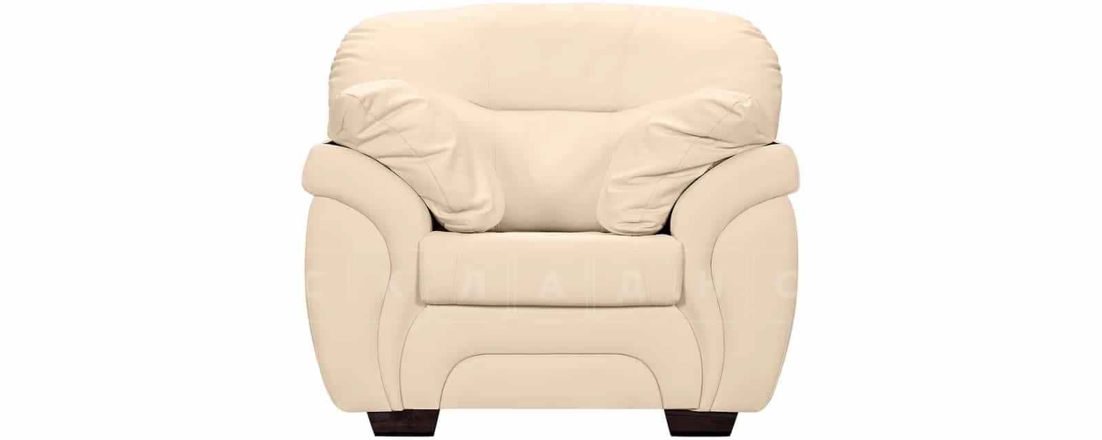 Кресло Бристоль кожаное бежевого цвета фото 2 | интернет-магазин Складно
