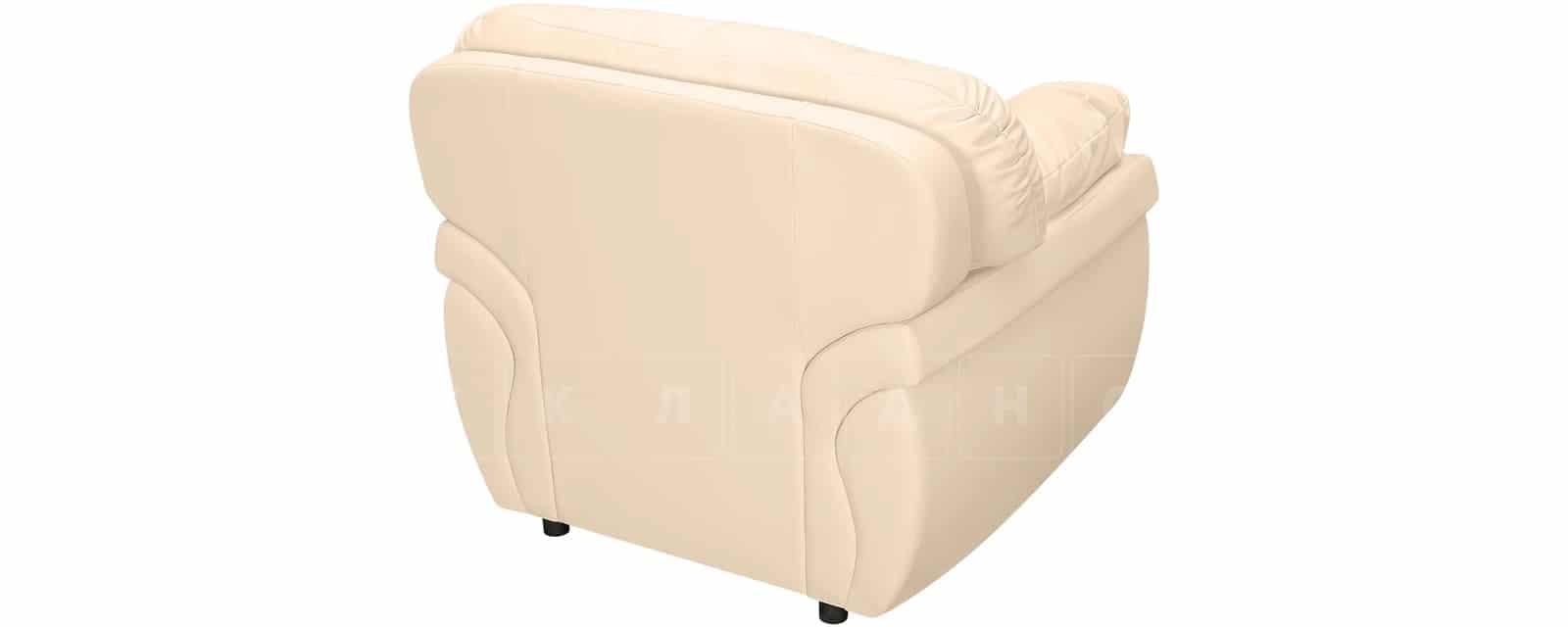 Кресло Бристоль кожаное бежевого цвета фото 3 | интернет-магазин Складно