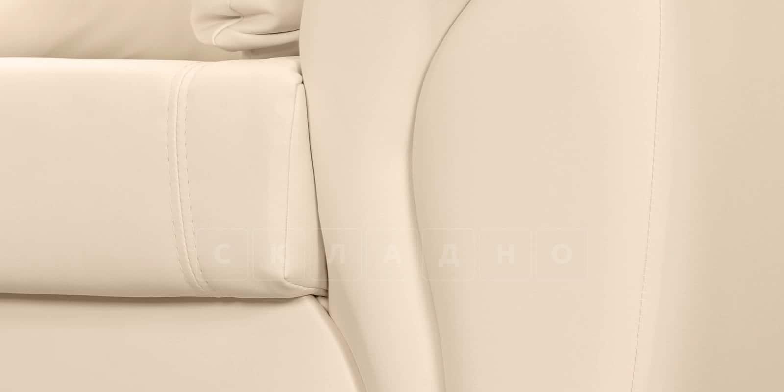 Кресло Бристоль кожаное бежевого цвета фото 5 | интернет-магазин Складно