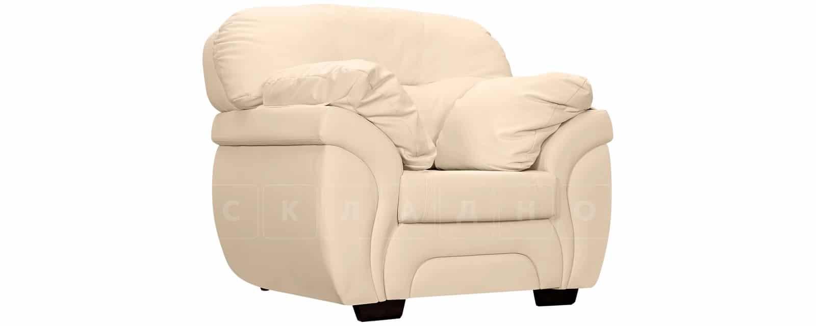 Кресло Бристоль кожаное бежевого цвета фото 1 | интернет-магазин Складно