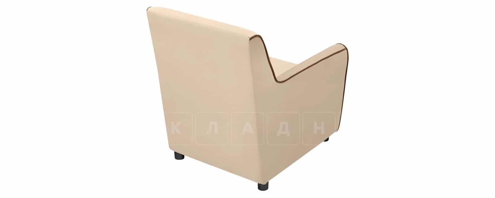 Кресло Флэтфорд велюр бежевый с коричневым кантом фото 5 | интернет-магазин Складно