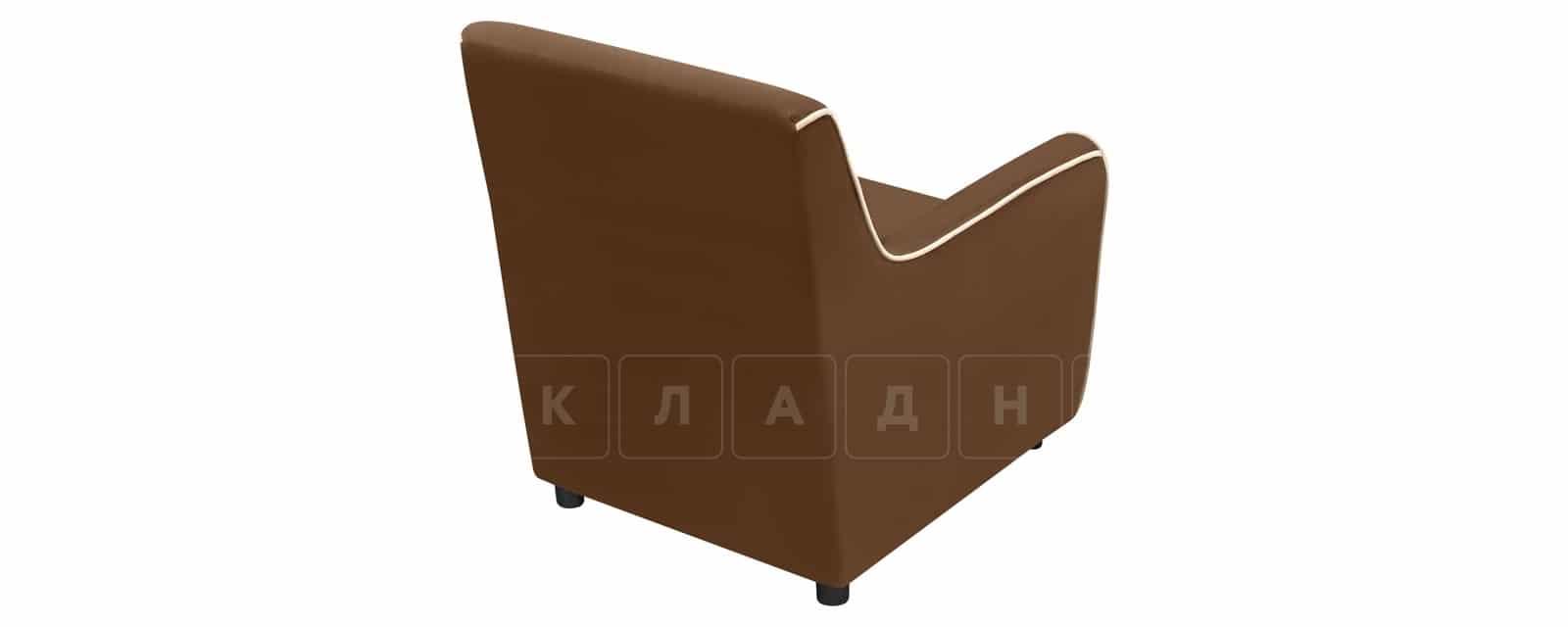 Кресло Флэтфорд велюр коричневый с бежевым кантом фото 3 | интернет-магазин Складно