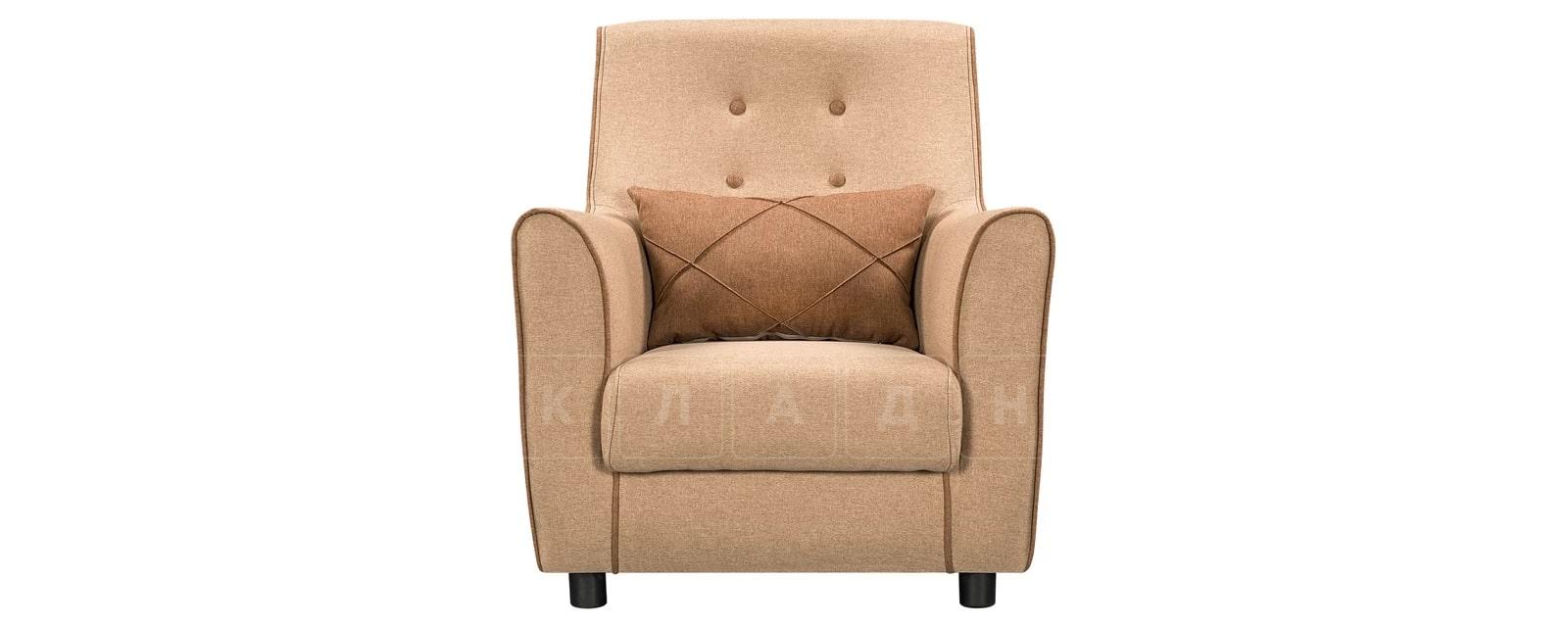 Кресло Флэтфорд рогожка бежевая с коричневым кантом фото 2 | интернет-магазин Складно