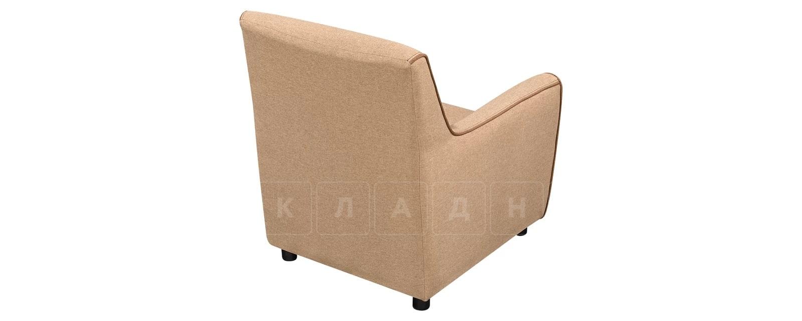 Кресло Флэтфорд рогожка бежевая с коричневым кантом фото 3 | интернет-магазин Складно