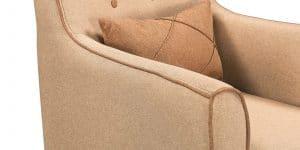 Кресло Флэтфорд рогожка бежевая с коричневым кантом 6490 рублей, фото 5 | интернет-магазин Складно