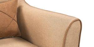 Кресло Флэтфорд рогожка бежевая с коричневым кантом 6490 рублей, фото 6 | интернет-магазин Складно