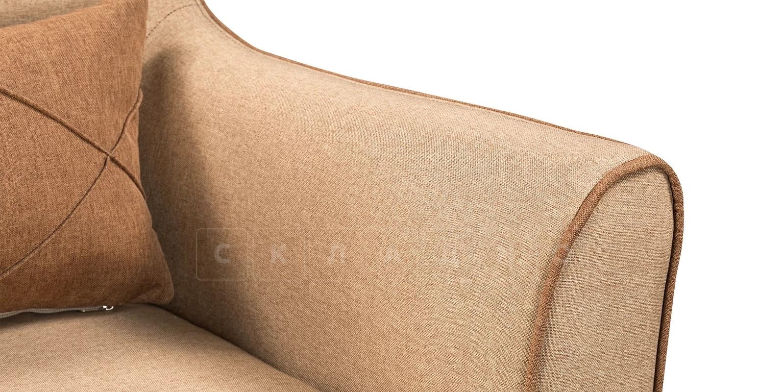 Кресло Флэтфорд рогожка бежевая с коричневым кантом фото 6 | интернет-магазин Складно