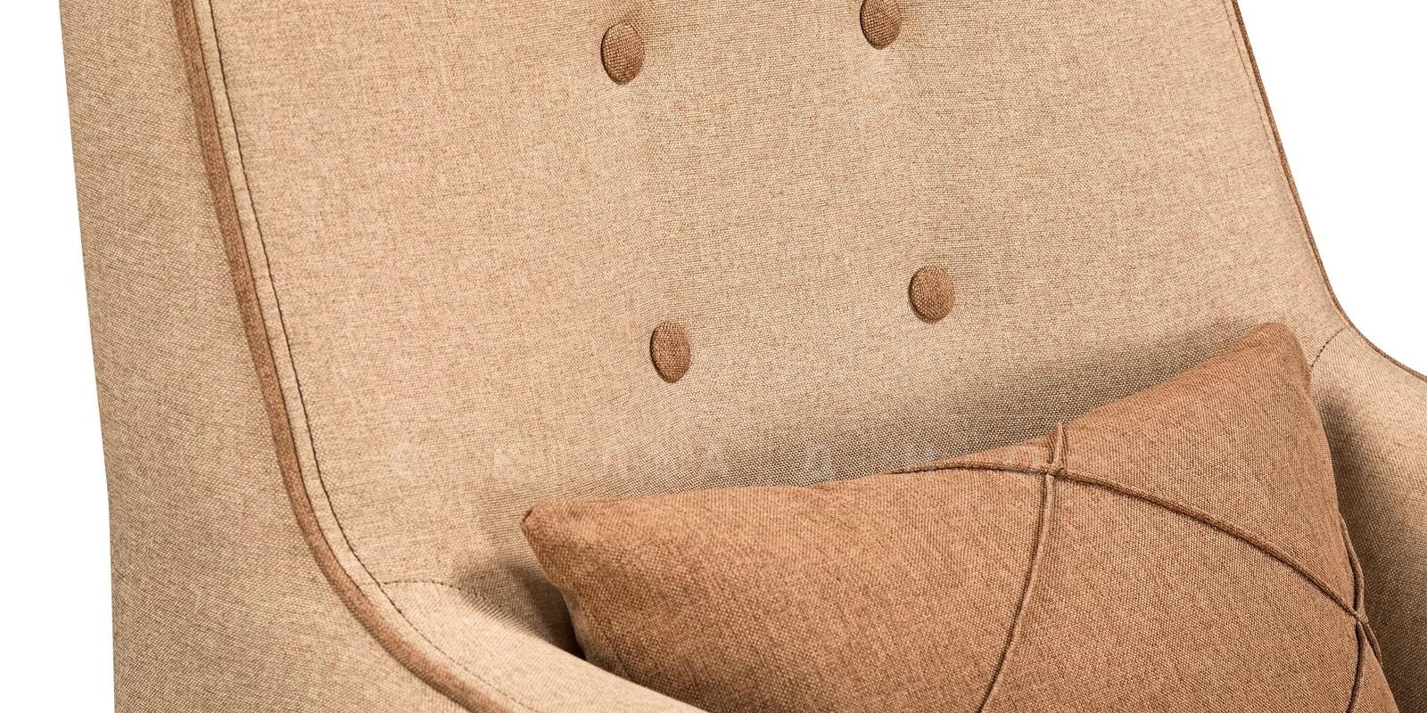 Кресло Флэтфорд рогожка бежевая с коричневым кантом фото 7 | интернет-магазин Складно