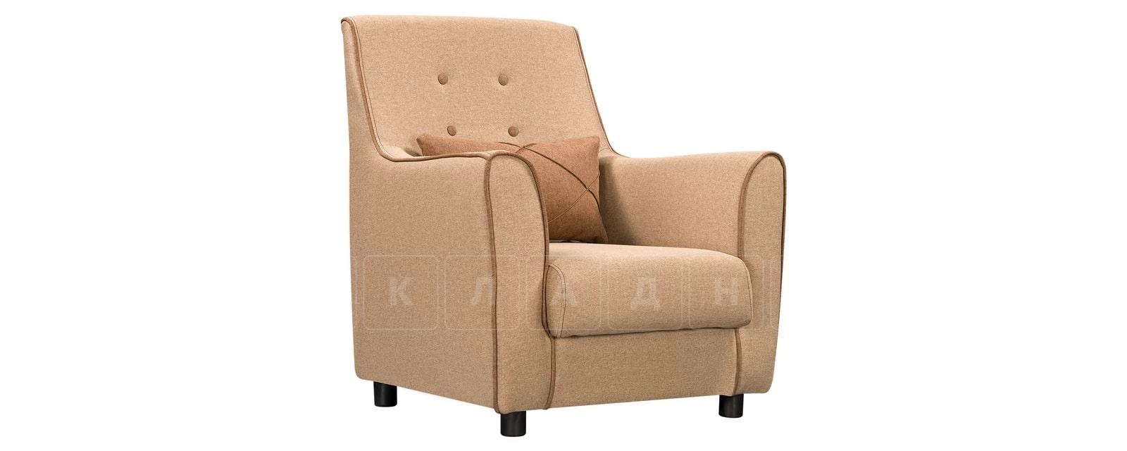Кресло Флэтфорд рогожка бежевая с коричневым кантом фото 1 | интернет-магазин Складно