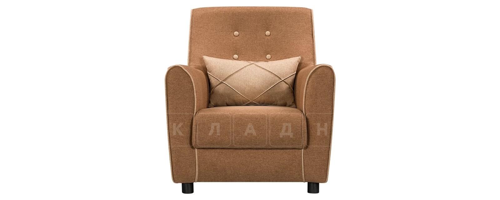 Кресло Флэтфорд рогожка коричневая с бежевым кантом фото 2 | интернет-магазин Складно