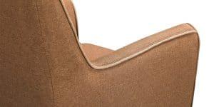 Кресло Флэтфорд рогожка коричневая с бежевым кантом 11150 рублей, фото 4 | интернет-магазин Складно