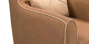Кресло Флэтфорд рогожка коричневая с бежевым кантом 11150 рублей, фото 5 | интернет-магазин Складно
