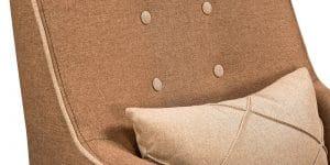 Кресло Флэтфорд рогожка коричневая с бежевым кантом 11150 рублей, фото 6 | интернет-магазин Складно