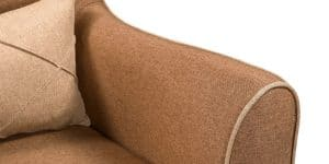 Кресло Флэтфорд рогожка коричневая с бежевым кантом 11150 рублей, фото 7 | интернет-магазин Складно