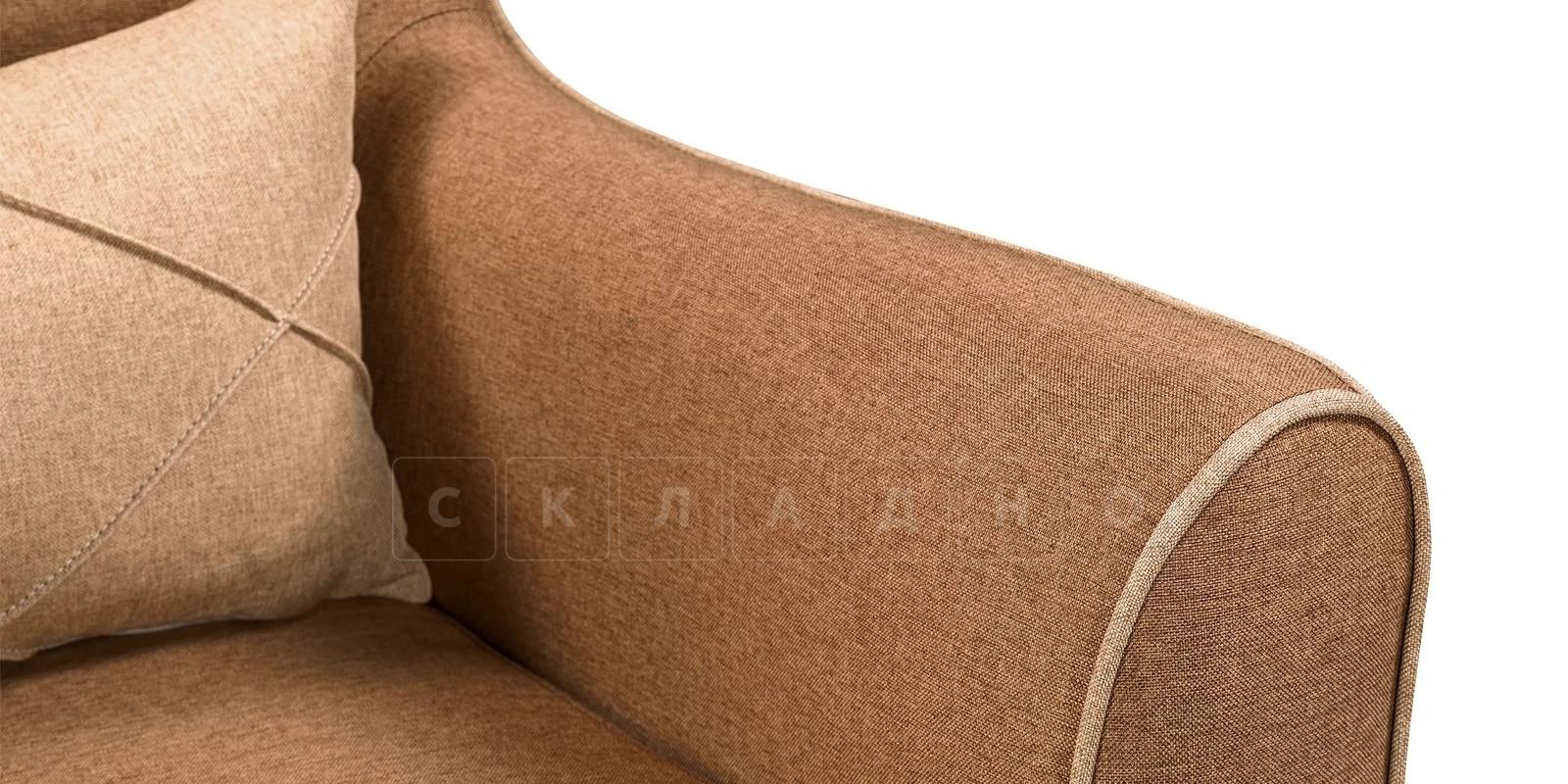 Кресло Флэтфорд рогожка коричневая с бежевым кантом фото 7 | интернет-магазин Складно
