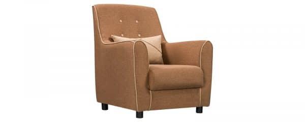 Кресло Флэтфорд рогожка коричневая с бежевым кантом фото | интернет-магазин Складно