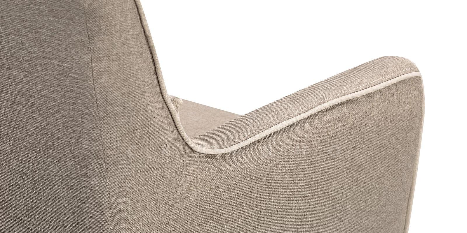 Кресло Флэтфорд рогожка серая фото 4 | интернет-магазин Складно