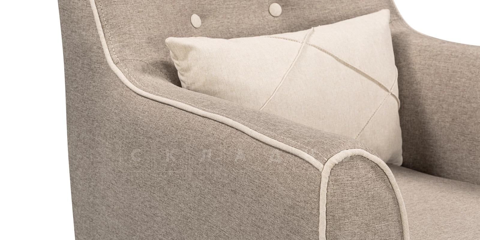 Кресло Флэтфорд рогожка серая фото 5 | интернет-магазин Складно