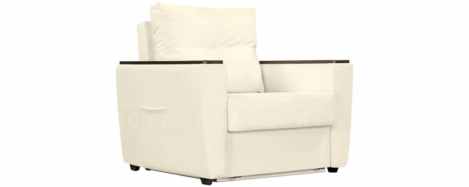 Кресло Майами молочного цвета со спальным местом фото 1 | интернет-магазин Складно