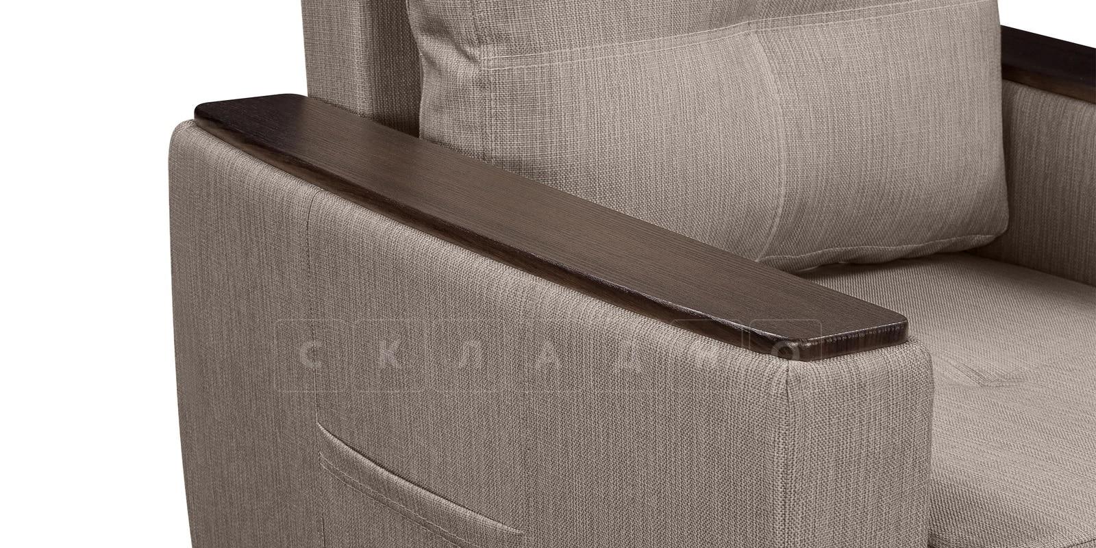 Кресло Майами темно-бежевое со спальным местом фото 5 | интернет-магазин Складно