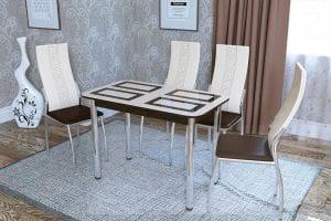 Стол обеденный Квадро нераздвижной фото | интернет-магазин Складно