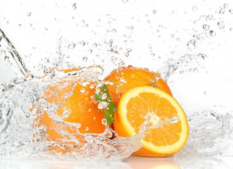 Стол нераздвижной стеклянный с фотопечатью Апельсин серия 1 фото 1 | интернет-магазин Складно