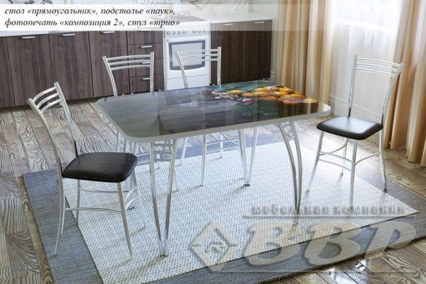 Стол нераздвижной стеклянный с фотопечатью Композиция-2 серия 2 фото | интернет-магазин Складно
