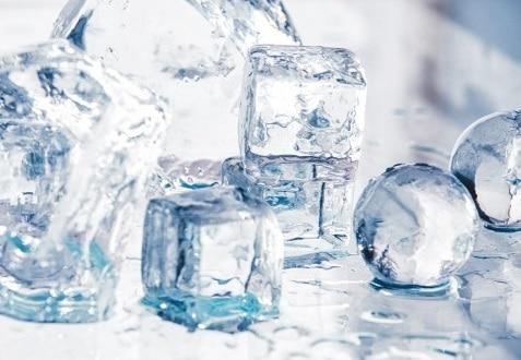 Стол нераздвижной стеклянный с фотопечатью Кубики льда серия 2 фото 1 | интернет-магазин Складно