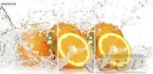 Стол раздвижной стеклянный с фотопечатью Апельсин 150х70 см фото превью | интернет-магазин Складно