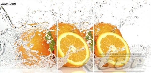 Стол раздвижной стеклянный с фотопечатью Апельсин 150х70 см фото | интернет-магазин Складно