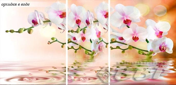 Стол раздвижной стеклянный с фотопечатью Орхидея в воде 150х70 см фото 3 | интернет-магазин Складно