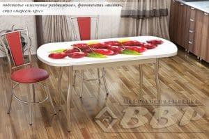 Стол раздвижной стеклянный с фотопечатью Вишня 150х70 см 10710 рублей, фото 2 | интернет-магазин Складно