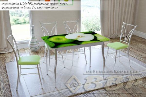 Стол нераздвижной стеклянный с фотопечатью Яблоко-3 серия 2 фото | интернет-магазин Складно